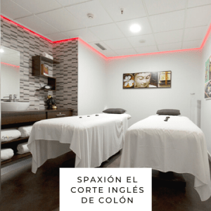 masaje en parejas Spa Spaxión by Asetra en El Corte Inglés de Colón